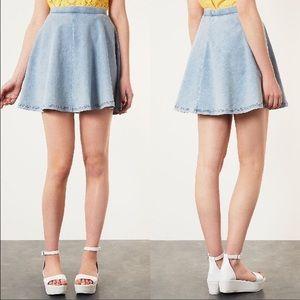 TOPSHOP Jean Skater Skirt